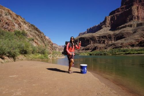 Thumbing a Ride Across the Colorado River