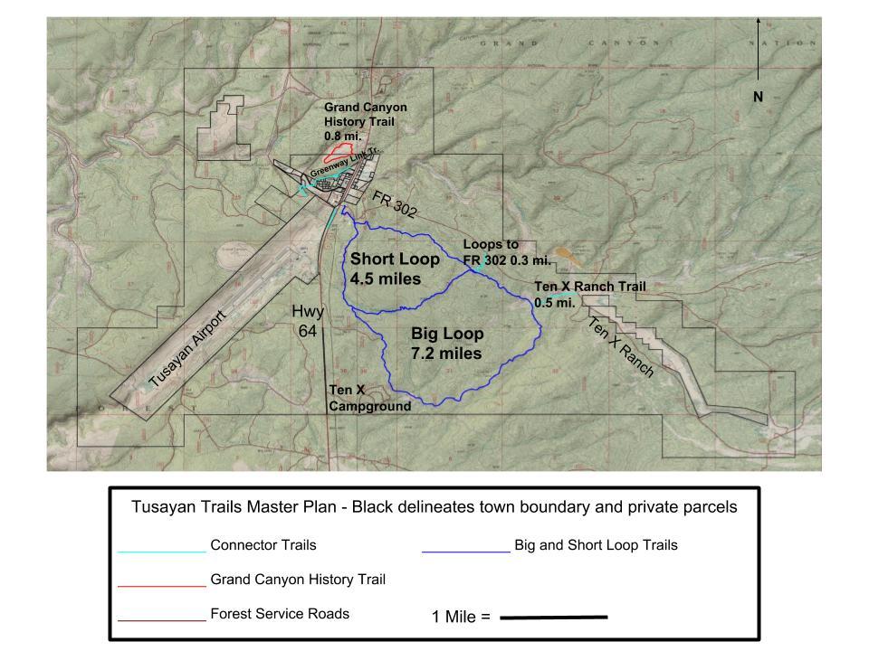 Tusayan Trails Master Plan Map - Public Comment
