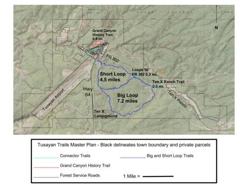 Tusayan Trails Master Plan Map - Public Comment