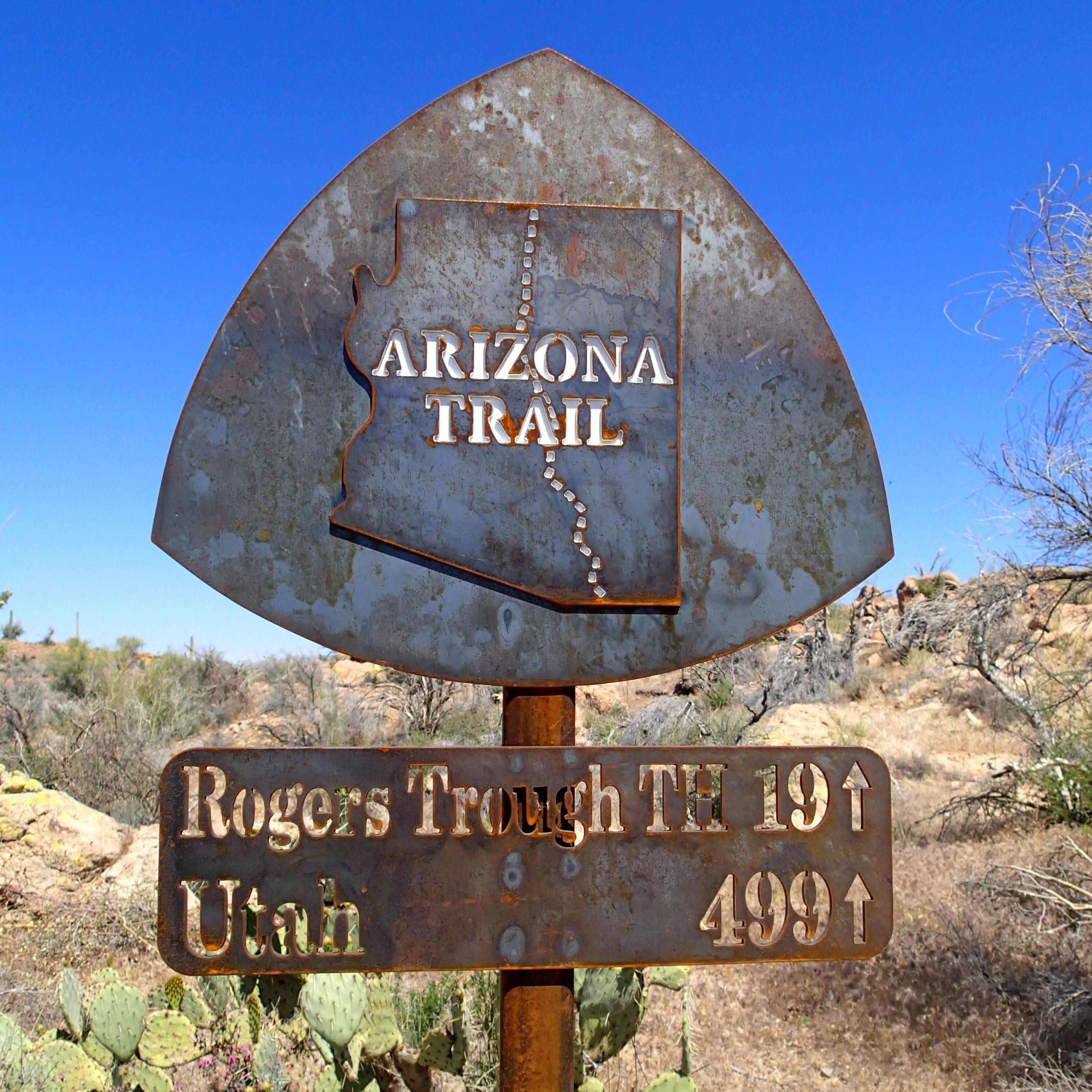 Arizona Trail Sign - Picketpost Trailhead