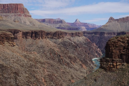 Granite Rapid in the Distance - Grand Canyon