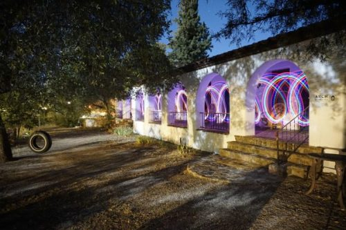 Light Painting at El Rancho Robles