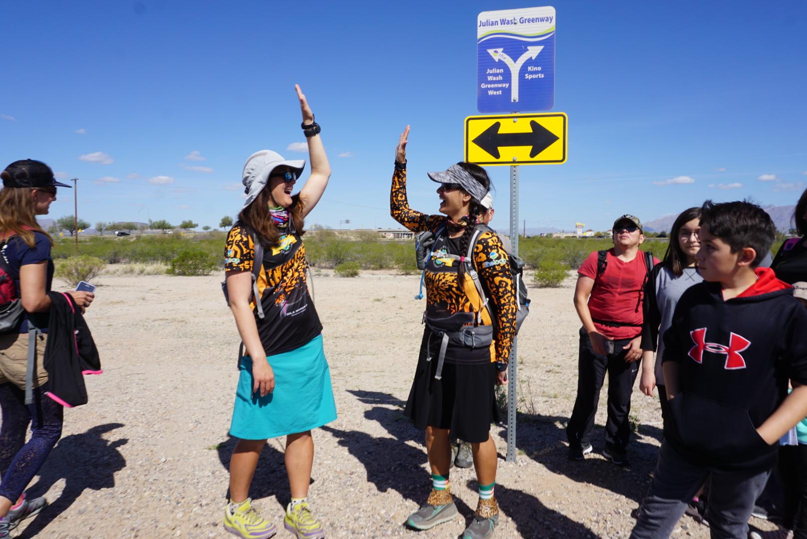 Liz and Sirena Hike The Loop Finish