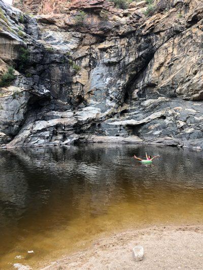 Lydia at Tanque Verde Falls