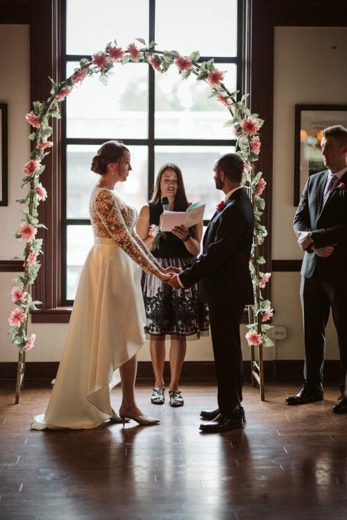 Sirena Officiating Liz and Shawn Rana Wedding