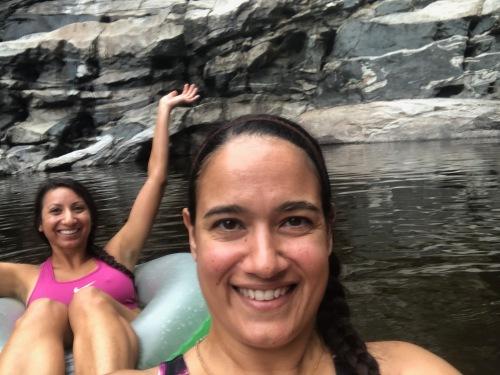 Sirena and Lydia at Tanque Verde Falls
