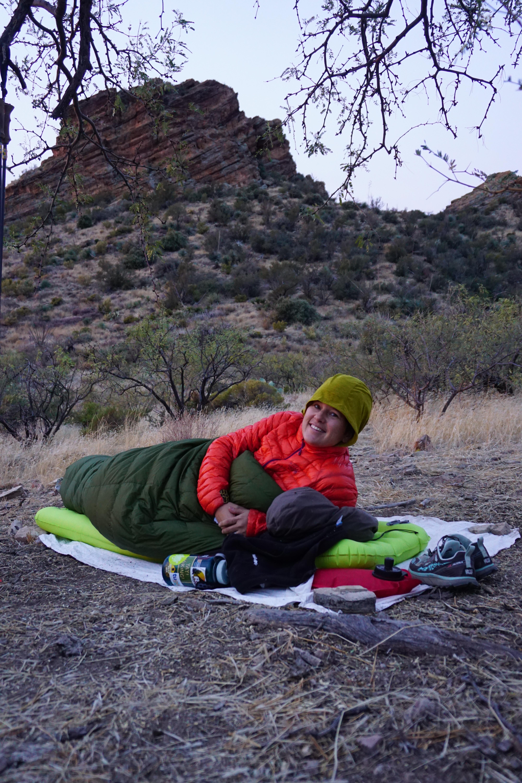 Wendy and Stripey Butte - Arizona Trail